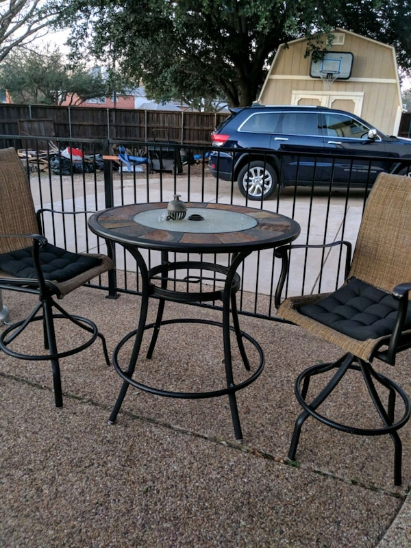 Used Outdoor Spate Top Bistro Table W Chairs For In Plano