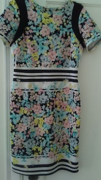 white, blue, and pink floral sleeveless dress Vancouver, V6J