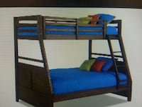 brown wooden bunk bed frame Lowell, 01851