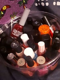 28 Bottles of Nail Polish-in a cute container  Edmonton, T6E 2C5