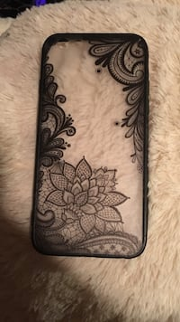 White and black floral iphone case