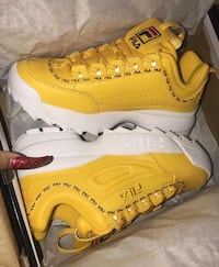 pair of yellow Nike Air Max shoes Chester, 19013