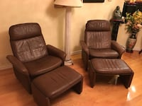 Pair of leather recliners Markham, L3S 2W3