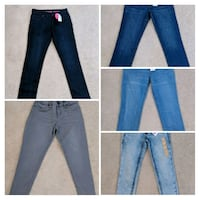 Lot of 5 new pair of girls skinny slim fit jeans Rockville