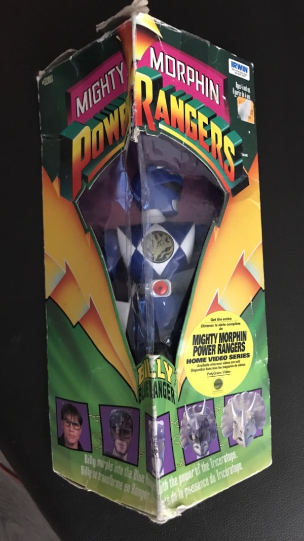 Original 1994 MIB Mighty Morphin Power Rangers Action Figure Blue Ranger