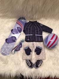 American girl doll snow outfit