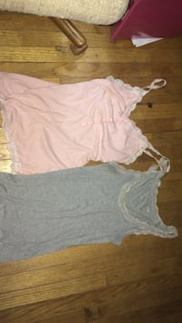 women's pink and gray tank tops