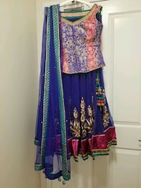 Women's blue and pink Lehenga Vancouver, V5S 4P6