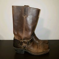 FRYE Women's Leather 12R Harness Boots - Size 7.5 Toronto, M4E