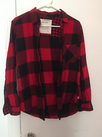 Cotton checkered plaid flannel from Garage store (Size Small) Montréal
