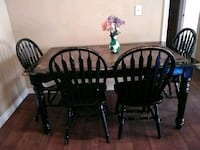 round black wooden table with four chairs dining s San Antonio, 78219
