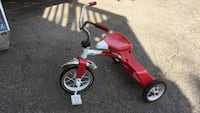 Roadmaster Dual Deck 10 Inch Tricycle Red Kids Durable Adjustable Seat Franklin