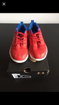 pair of red-and-white Nike sneakers Edmonton, T5B 3W8