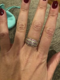 White gold, pink sapphire, and white diamond ring. Size 6.5 Negotiable  Port Washington North, 11050