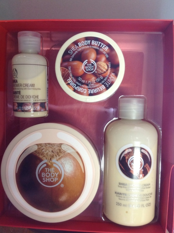 shea body butter the body shop skin care kit