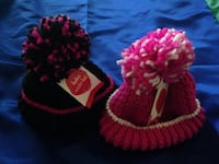 two beanies pink/grey and pink/white Norwalk, 90650