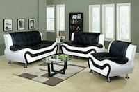 White/Black sofa , love seat and Chair Houston, 77074