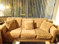 brown fabric 3-seat sofa Rockville, 20852