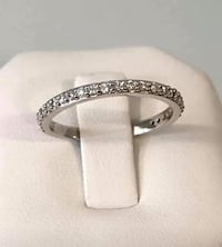 10k white gold ladies diamond eternity band * Compare at $1,300 Vaughan, L4J