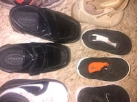 three pairs of black and white Nike sneakers Little Rock, 72211