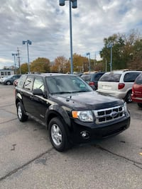 2008 BLACK FORD ESCAPE XLT 4X4 SUV DEPENDABLE