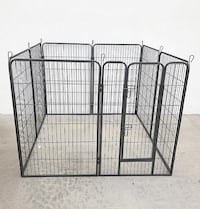 "New $110 Heavy Duty 48"" Tall x 32"" Wide x 8-Panel Pet Playpen Dog Crate Kennel Exercise Cage Fence South El Monte"