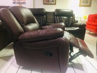 black leather recliner sofa chair 3731 km