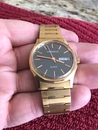 Vintage Men's Caravelle Watch.  Runs great.  New battery.  Great piece of the past.  Gold colored band with grey face.  Great piece of jewelry for the man in your life. Fullerton, 92831