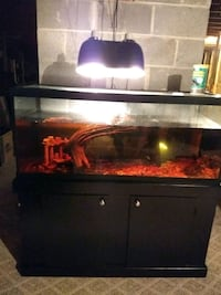 75g black framed clear glass fish tank w stand  Manassas, 20111