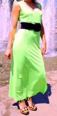 Beautiful green gala long dress for new years Vancouver, V6Z 2W3