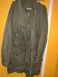 OLIVE GREEN MENS ARMY JACKET
