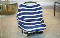 Dark Navy and White Jersey Stretch Cover for Car seat  Winchester, 22603