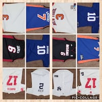 six assorted jersey shirts collage Frederick, 21703