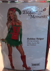 Elegant Moments Sexy Holiday Helper Outfit 4 PC Set New Size Large $25 Great Price!  271 mi