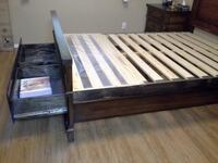 brown wooden bed frame KELOWNA
