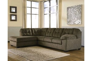 Ashley furniture sectional with ottoman