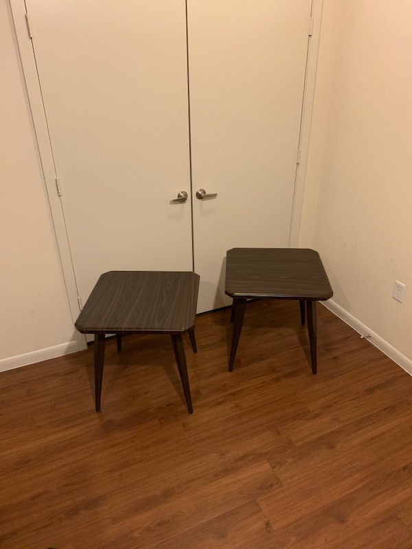 Used Two Dark Brown Side Tables Ashley Furniture For Sale In Austin