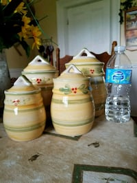 three white and green plastic containers Oakwood, K0M 2M0