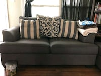 gray fabric 2-seat sofa with match couch Clarksville, 37042