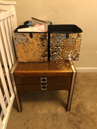 black and brown wooden side table Holly Springs, 27540