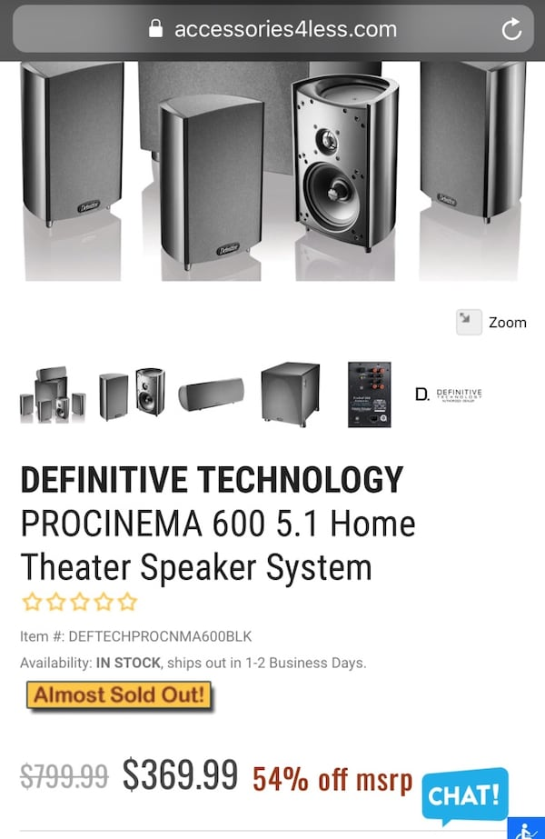 Procinema 600 home theater speaker system. 0