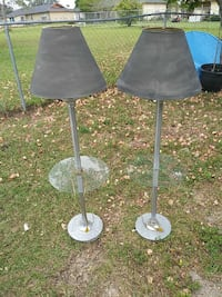 two gray base floor lamp with cone lamp shades Ocala, 34472