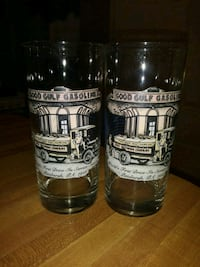 (2)Vintage(40's)Gulf Oil Collector's Glasses Lot 3