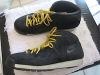 Vintage Nike Black Leather Suede Hi-Top Sports Hikers - Size 11 Winnipeg