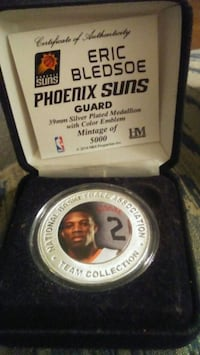 Eric Bledsoe Silver Plated 39mm medallion.  Mesa, 85213