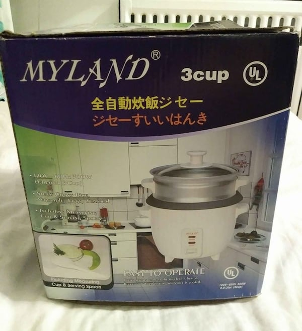 Myland 3 Cup Rice Cooker Brand New in Box fc7b8627-fb25-4598-9a14-0dd37f5857fa
