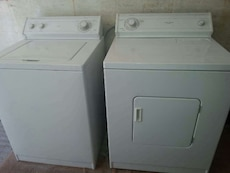 #1469 Whirlpool heavy duty washer and dryer