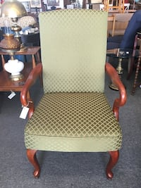 New Formal Looking Side Chair in Green and Gold London, N6E 2B9