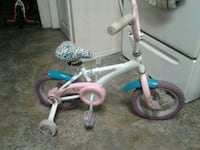toddler's white and blue bicycle with training wheels Winnipeg, R2W 1Y3