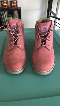 pair of pink Timberland work boots Laurel, 20707